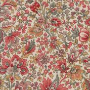 Moda Madam Rouge by French General - 5682 - Stylised Floral on Cream  - 13770 12 - Cotton Fabric